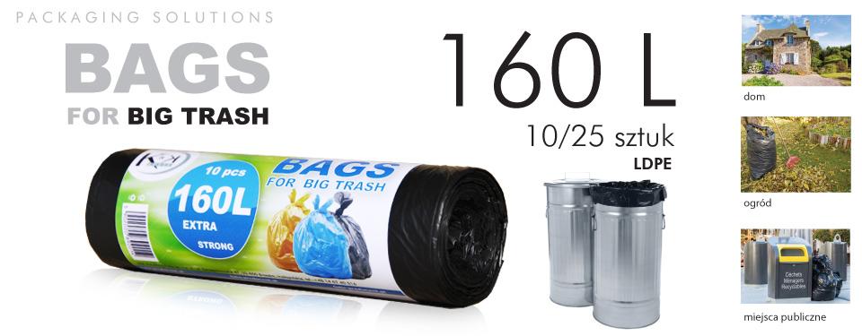 Worki na odpady dużej pojemności 160 l