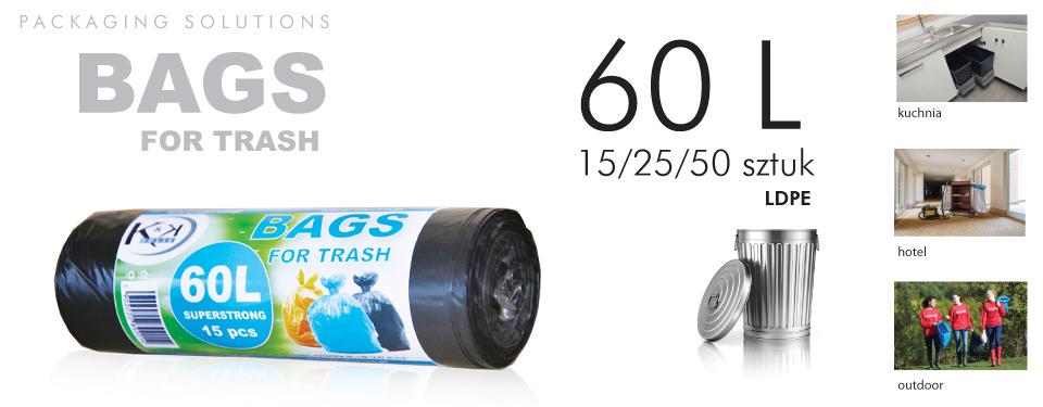 Worki na odpady 60 litrów producent
